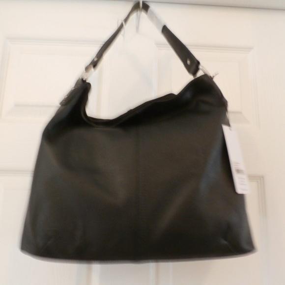9c02374f Kooba Bags | Black Leather Hobo Bag Snap Closure 3 Compartments ...